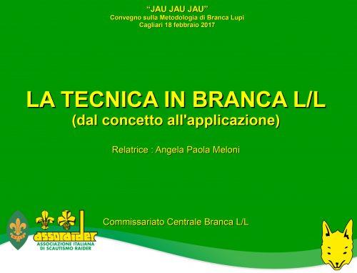 LA TECNICA IN BRANCA L/L (dal concetto all'applicazione)